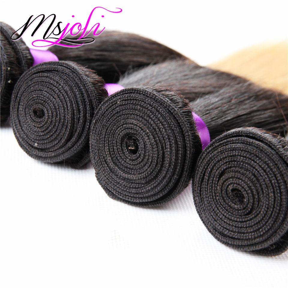 9A Moğol Bakire Saç Örgü Düz Üç Ton Insan İşlenmemiş Saç Uzatma Atkı Ombre Renk Dört Demetleri t1b-4-27