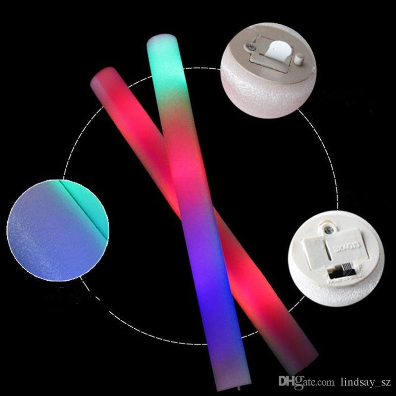 Flash Sticks Light Sticks Club Lights Wholesale Personalizado Personalizado Luz Colorida Palitos de espuma Esponja Barra de luz Envío rápido