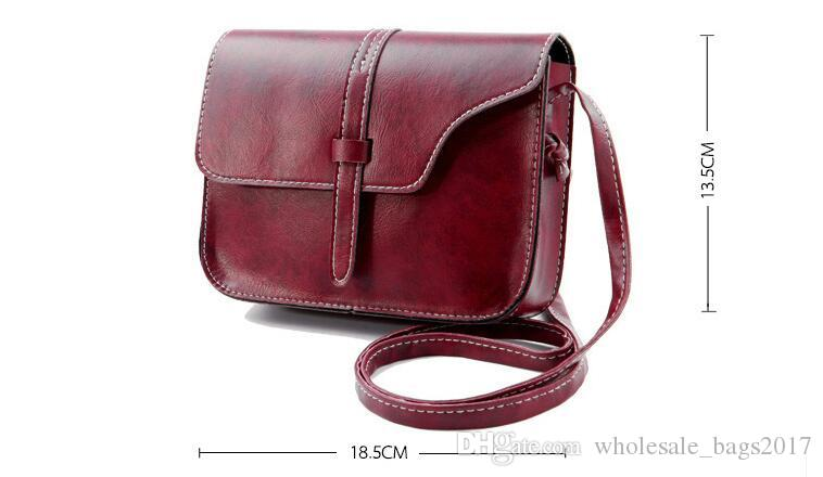 Simple Design Fashion Women Shoulder Bag Cross Body Bags Lady Girls Vintage PU Leather Fashion Bags