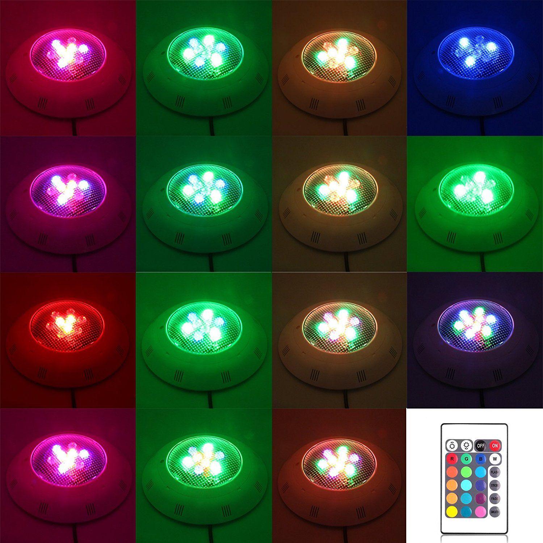 Unterwasserswimmingpool BADEKURORT 9W helles LED helles buntes RGB IR Fernbedienung 12w 15w 18w