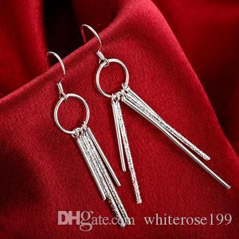도매 - 최저 가격 크리스마스 선물 925 스털링 실버 패션 귀걸이 E026