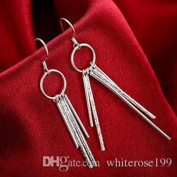 Großhandel - niedrigster Preis Weihnachtsgeschenk 925 Sterling Silber Mode Ohrringe E026