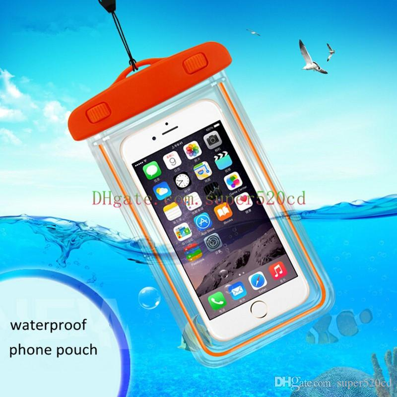 Mobile phone luminous waterproof bag pvc water bag seaside outdoor sports waterproof bag