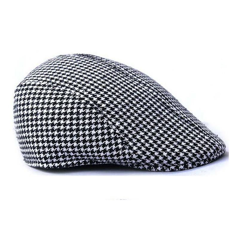 f05cc5b2a1713 2019 Wholesale Men Women Autumn Winter Houndstooth Newsboy Caps Beret Hat  Cabbie Flat Hats Beret Cap From Newcollection, $20.04 | DHgate.Com