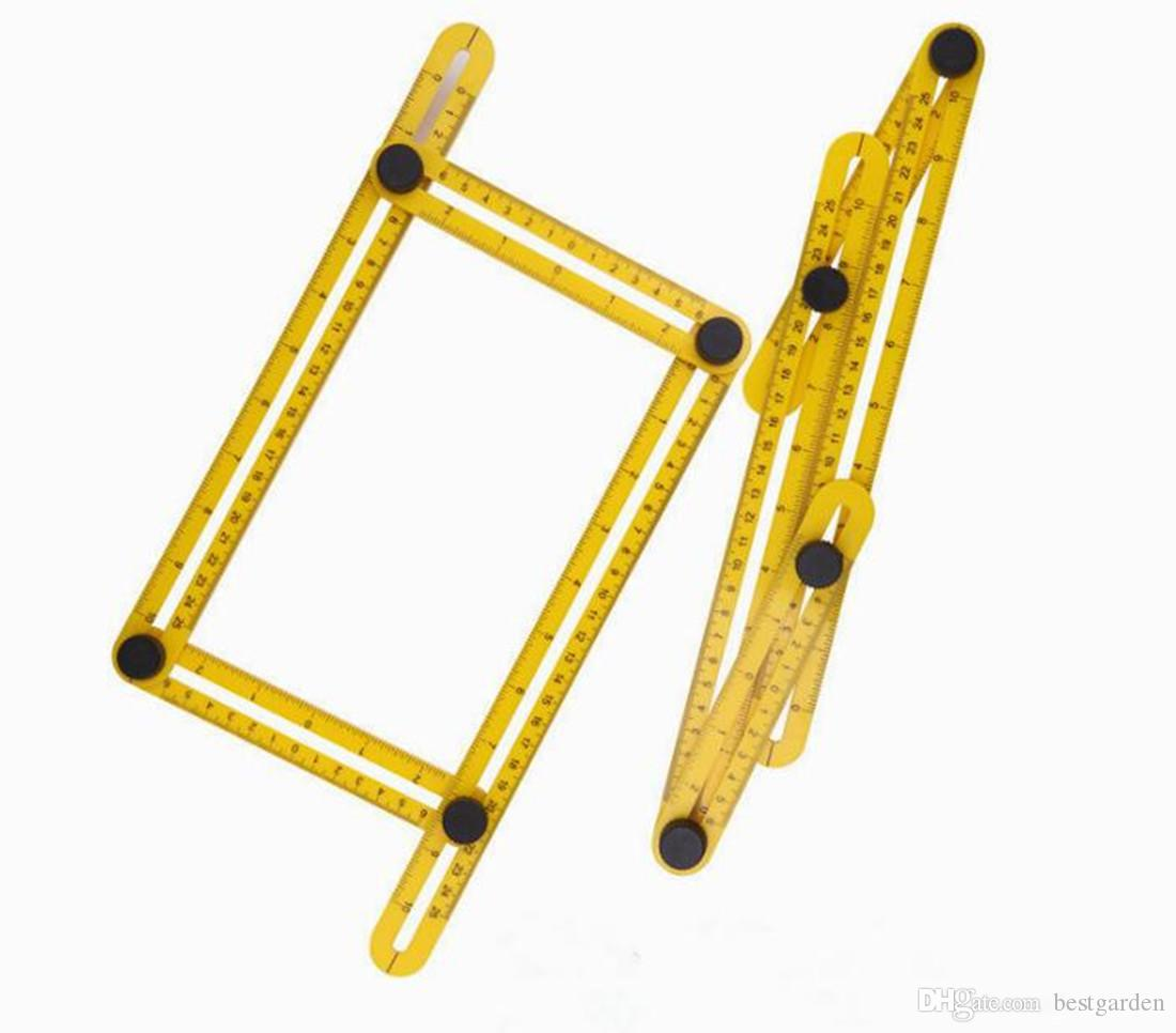 Angle-izer Template Tool Four-Sided Ruler Mechanism Slide Y Measuring Instrument for Handymen, Builders, Craftsmen