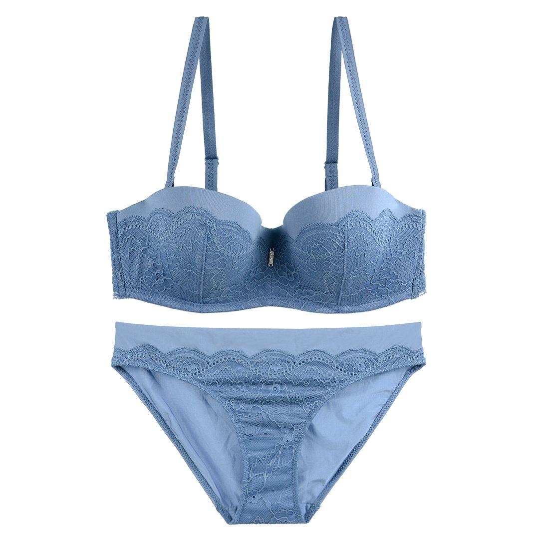 4235d67a26a67 France Sexy Luxury Lace Push-Up Deep V Bra Set Women Underwire Bras Briefs  Underwear Suits 1 2 Cup Half Cup Bride Dress Underwear Set Big Size Thin  Thick ...