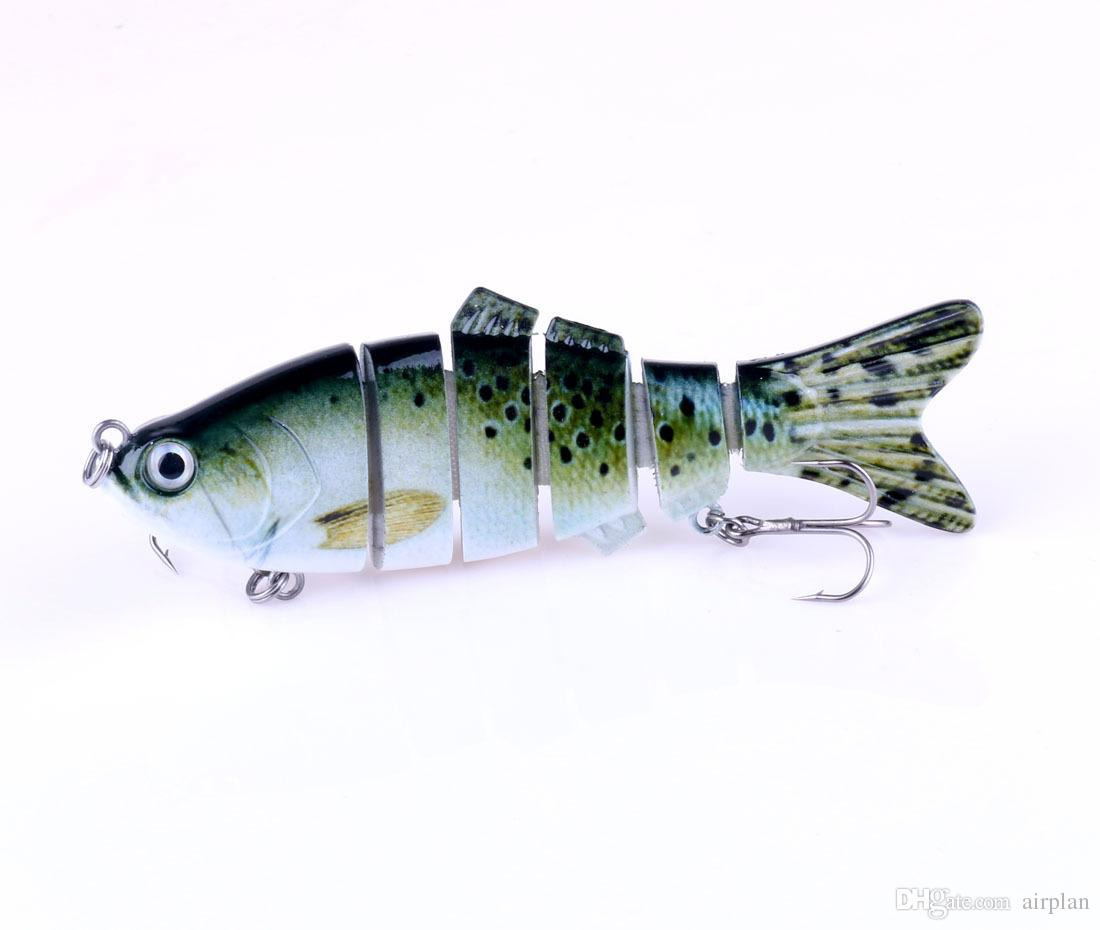 of 6 Section Pesca Fishing Bait Accessories Topwater Fishing Lure Wobbler 10cm/18g Hard Artificial Bass Shad Swimbait Hooks