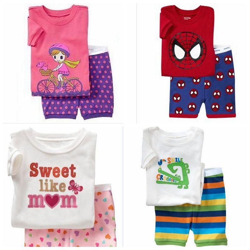 3094c5add9 New Summer Baby Sleepwears Suits Boys Pajamas Children Pyjamas Girls ...