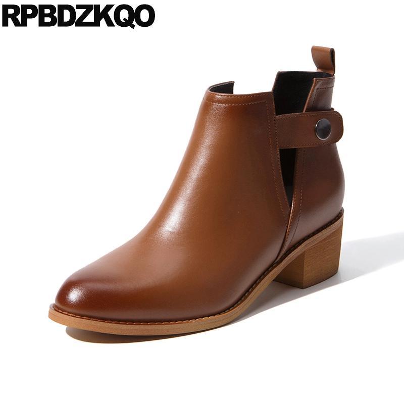 Chaussures à bout rond marron femme 1Tggl