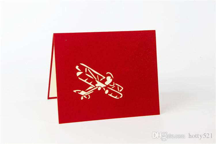 3d handmade pop up greeting cards plane design thank you cards airplane birthday cards suit for friend kids