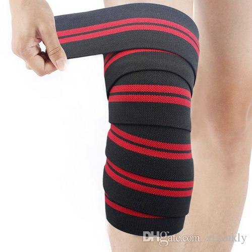 3a2120c360 2019 Weightlifting Squat Knee Guards Elastic Compression Knee Brace Bandage  Pad Knee Support Brace Leg Arthritis Injury Gym Sleeve From Zfrankly, ...