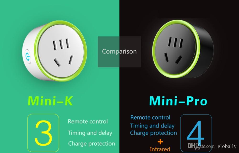 Smart plug wifi Smart Power Socket Outlet Remote Control Timer Timing Switch mini k wireless controll by using phone app