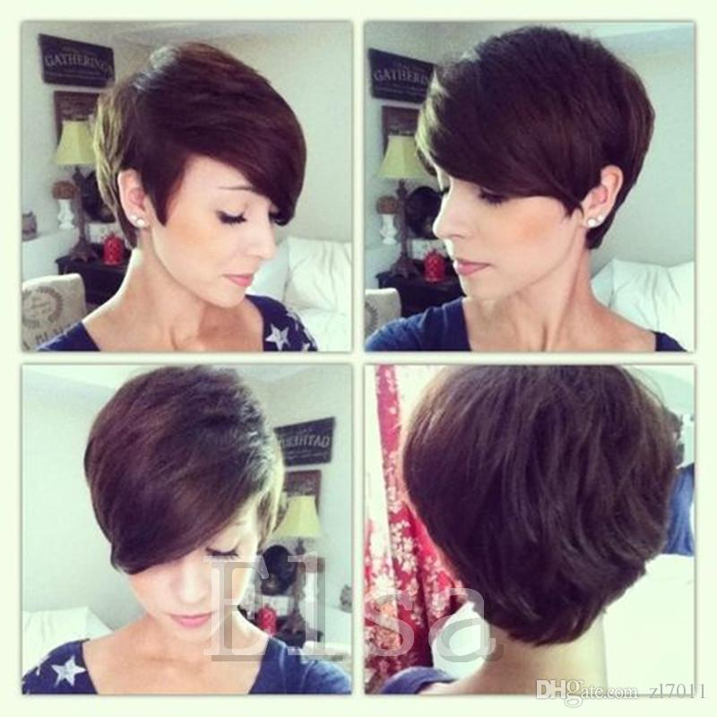 2017 Celebrity Short Bob Hair Wigs Brazilian Hair Super Short