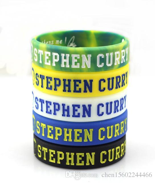 5072c6cd62cfc 4pcs/lot Golden State Stephen Curry Basketball Bracelets Professional  Silicone Bracelets Wholesale Sport Silicone Wristbands