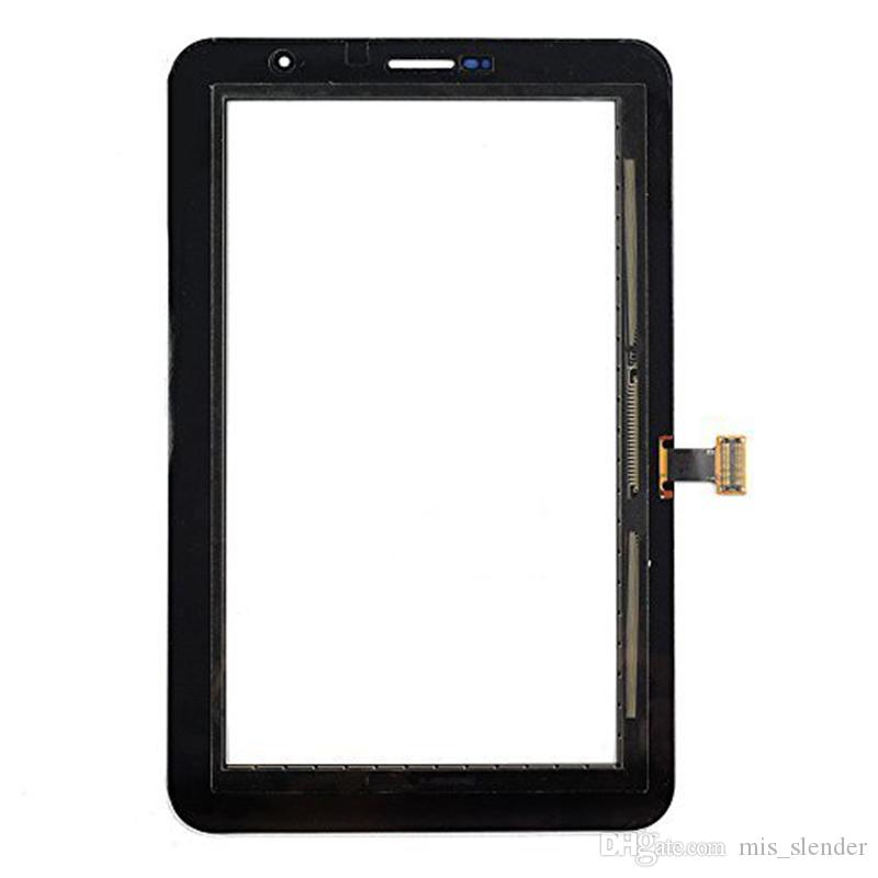 Tested Black White For Samsung Galaxy Tab 2 7.0 P3100 P3110 Touch Screen Digitizer+Adhesive Panel Outer Glass Sensor DHL Free