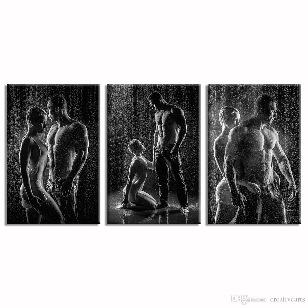 Free shipping framed man and woman in love photo canvas printing black and white picture canvas wall decor hd canvas printing40cmx60cmx3