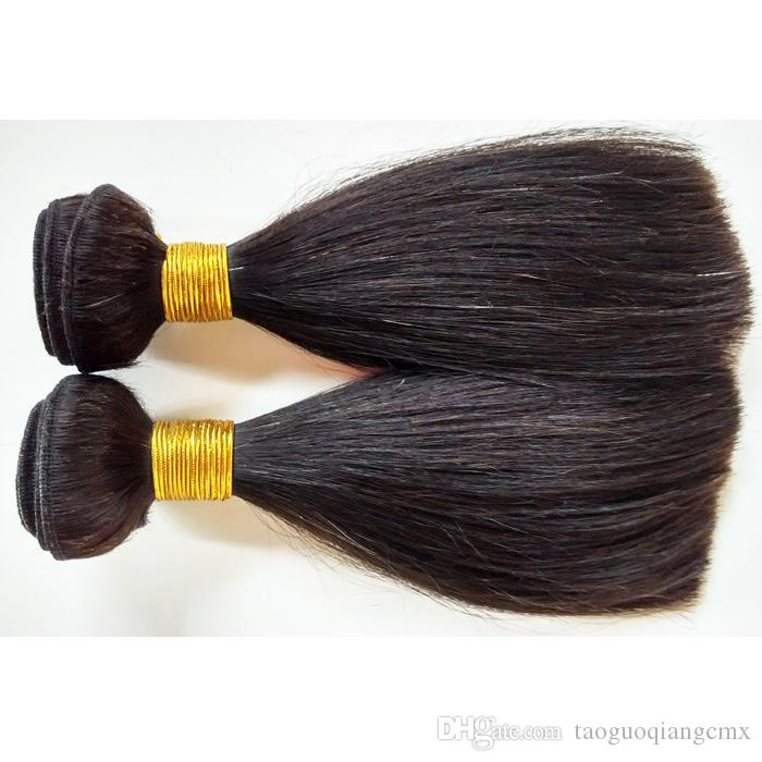 8A Brazilian Peruvian Virgin Straight Human Hair Weave 3 Bundles 8inch Sexy Natural Color soft beauty Malaysian Indian remy Hair Extensions