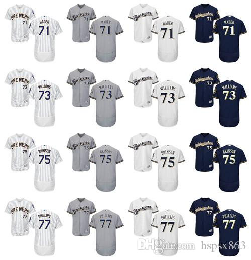a3a2d7163 ... 2017 Flex Base Mens Milwaukee Brewers Authentic Jersey 71 Josh Hader 73  Taylor Williams 75 Lewis ...