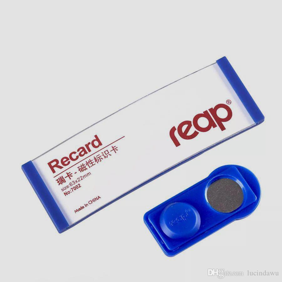 63 * 22mm Colher estudante magnética estudante trabalhador ID titular do cartão de identificação cartão de identificação de negócios quadro emblema do peito