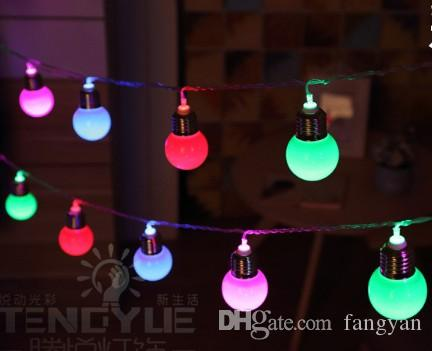 Led4.5 cm 5M20LED simulation 20bulb ball lantern dormitory decoration light string teng Yue wedding supplies festive lighting