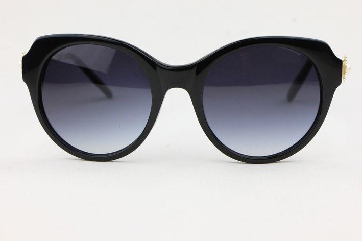gafas de sol redondas elegantes del estilo retro 4270 gafas de moda embutido perla lentes gris radiante Anti-UV400
