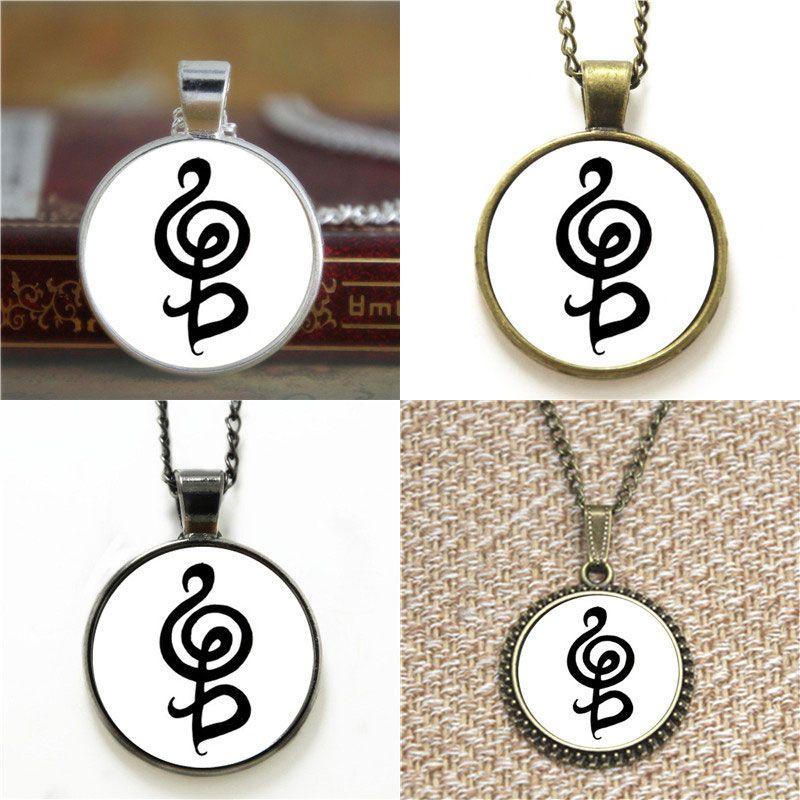 Wholesale Hakuna Matata Symbol In Black White Necklace Keyring