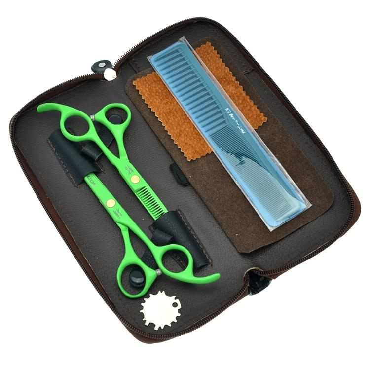 5.5Inch Jason 2017 Hot Selling Hair Scissors Set Kit Professional Hair Cutting &Thinning Shears Sharp Hairdressing Scissors, LZS0340