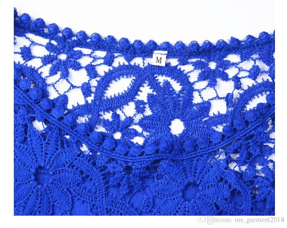 Kadın Moda Bluz 2017 seksi uzun kollu omuz çiçek bayanlar İpek şifon Gömlek Mavi oymak