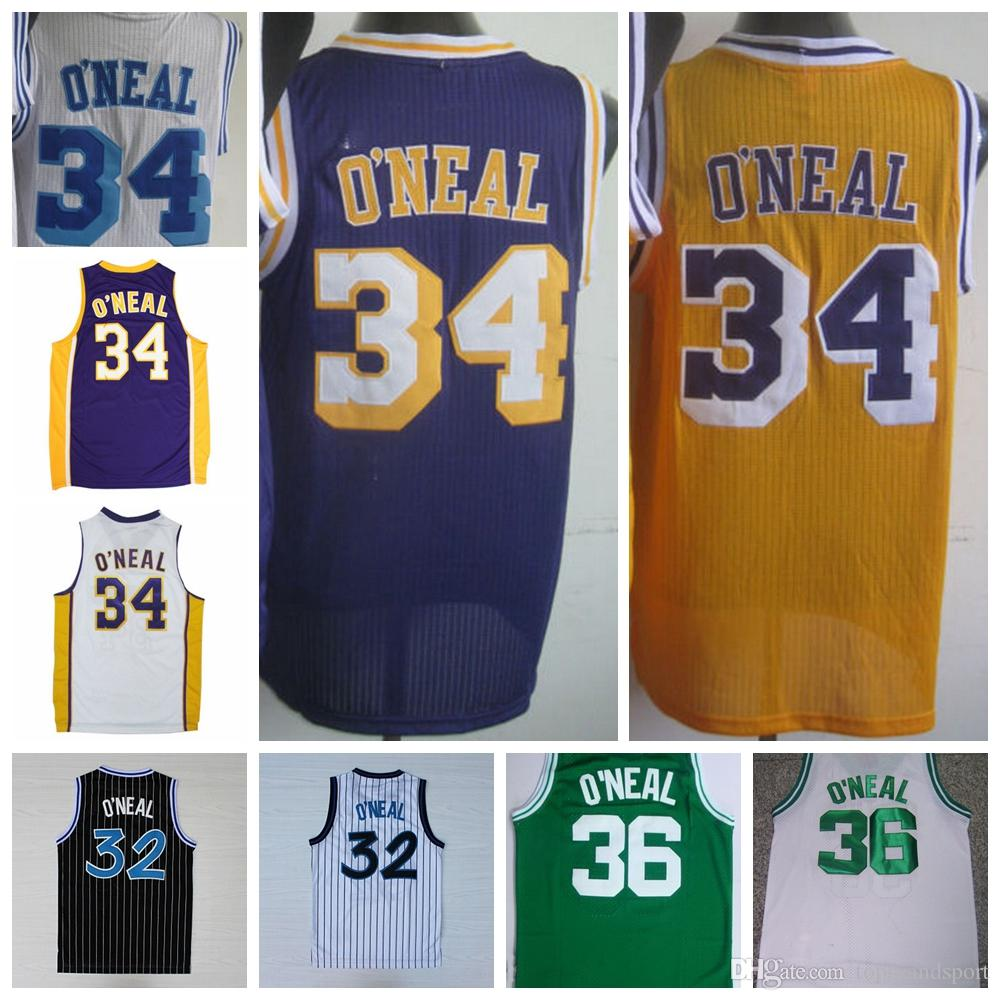 ... 2017 Retro 32 Shaquille Oneal Jersey Rev 30 New Material 34 ... b2e5c4107