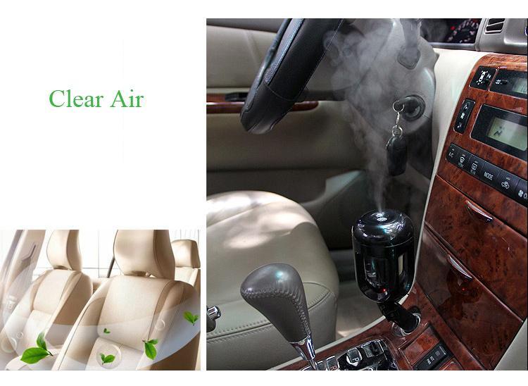 2017 nuevo diseño de coches Nanum humidificador de aire purificador de niebla Difusor humidificadores Ambientador para el coche Mini portátil de carga de la botella de agua del humidificador