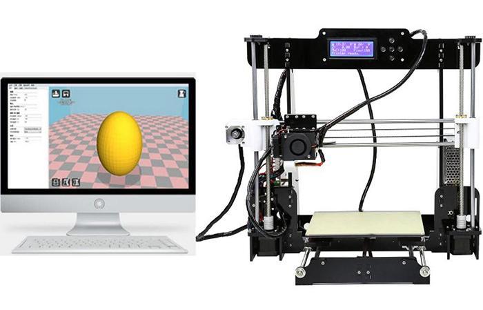 Neue Upgrade Desktop 3D Drucker Prusa i5 Größe 220 * 220 * 240 mm Acryl Rahmen LCD 2,5 kg Filament 16G TF Karte für Geschenk große Hauptplatine DHL