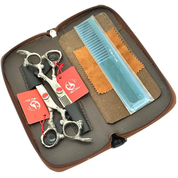 6.0Inch Meisha Professional Hair Scissors Set Hair Cutting Scissors & Thinning Shears JP440C Hairdressing Barber Scissors ,HA0274