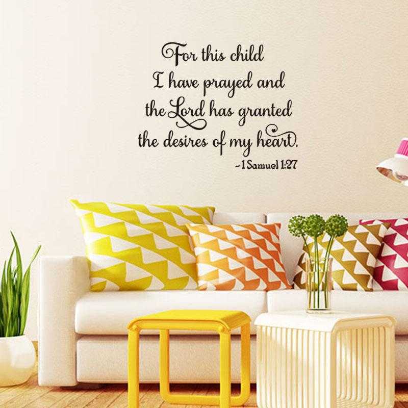 57x42cm English Letters Bible Quotes Pray Vinyl Wall Stickers ...