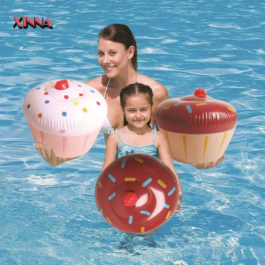 new donuts cake swimming ring pool float toys inflatabl