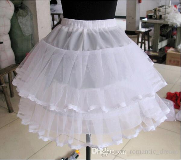 2017 New Short Bride Petticoats White 1 Hoop Wedding Dress Formal Dress Dance Underskirt Crinoline Wedding Accessories