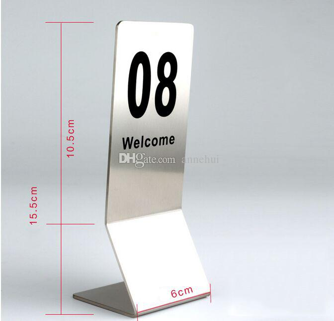 table number cards. 2017 new double sides stainless steel restaurant table number cards digital card seat desk display holder hotel menu from