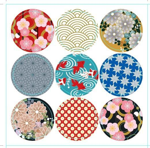 Japanese Seal Stickers Deco Round Online Birthday Card Free Cards From Tongshop8 1858
