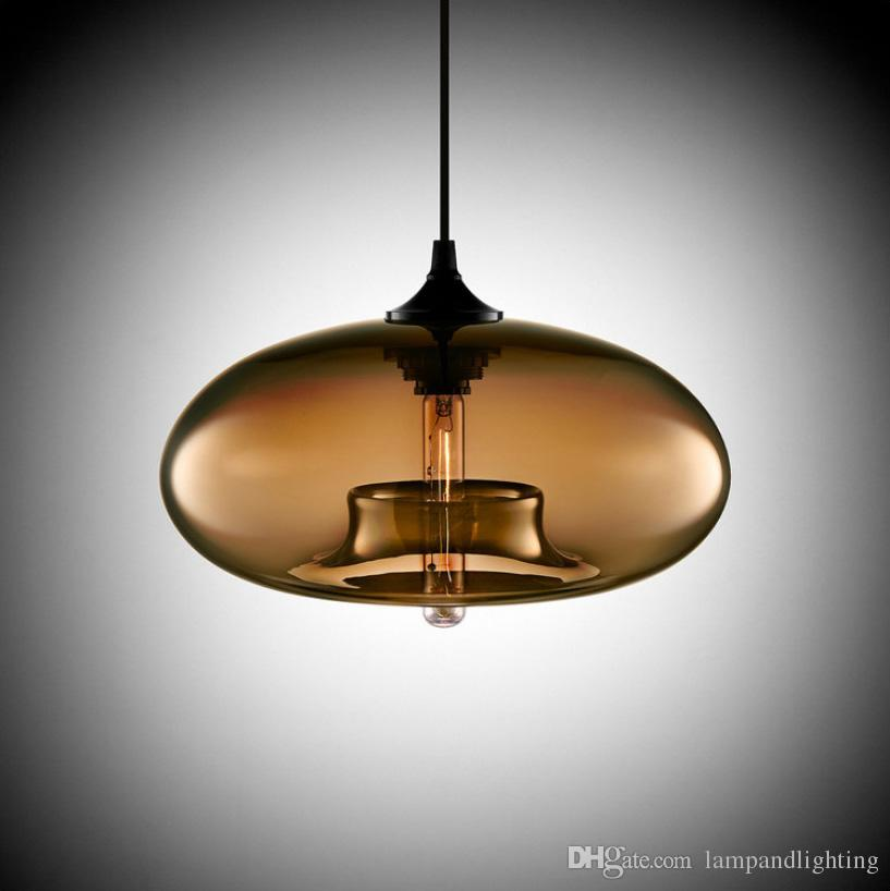 Lámpara colgante de cristal moderna y elegante, de estilo muti-color, moderna, luminaria colgante, dormitorio, comedor, barra, luces, bombilla Esidion