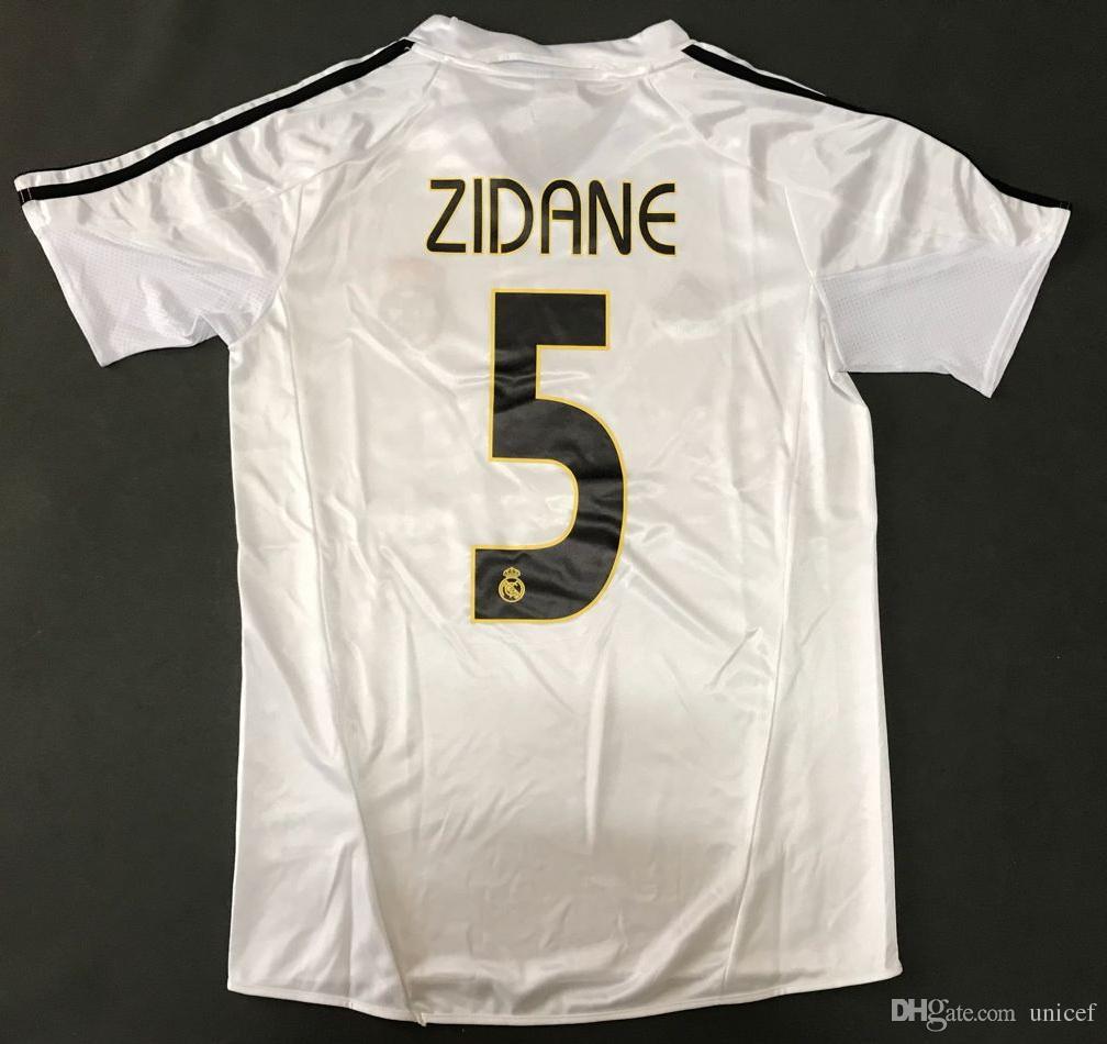 Zinedine Zidane Real Madrid 2004 2005 Camisetas De Fútbol Retro Camisetas  De Fútbol Camiseta De Fútbol Maglia Da Calcio Camiseta De Fútbol Por  Unicef 728e9e63cd370
