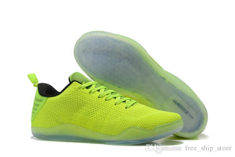 new products 98c39 30118 Acheter Kobe 11 Elite Low 4KB Fantôme Perdu De Noël Passé Kb XI MEN Chaussures  De Basket Ball Chaussures De Sport Baskets Baskets Taille 7 12 De  50.77 Du  ...