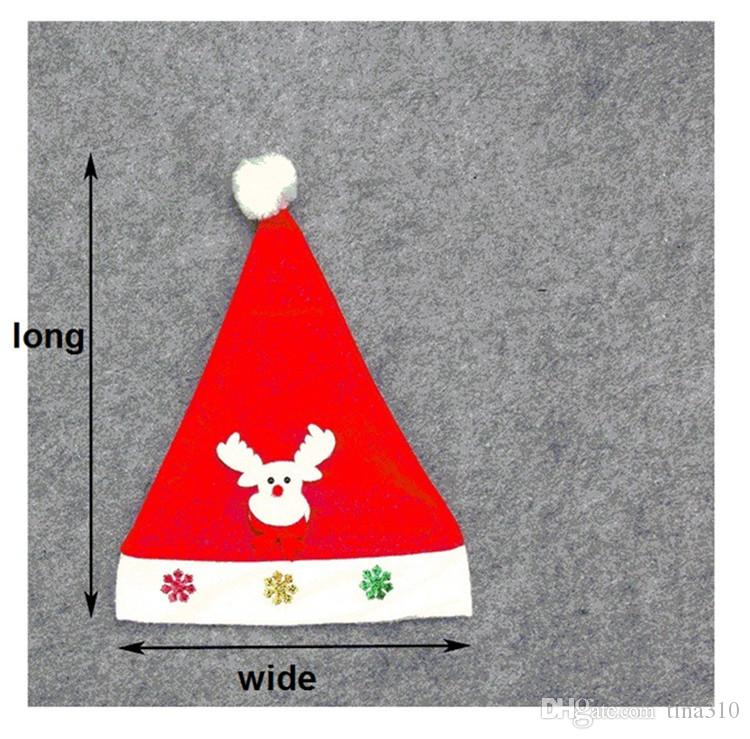 New luminous With lamp Christmas hats Children's cartoon cap Christmas decorations Christmas gift for children IA889