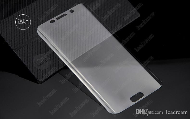 3D Full Cover Curved Surface Displayschutzfolie Schutzfolie für Samsung Galaxy S7 S6 Edge G9250 ungehärtetes Glas ohne Verpackung