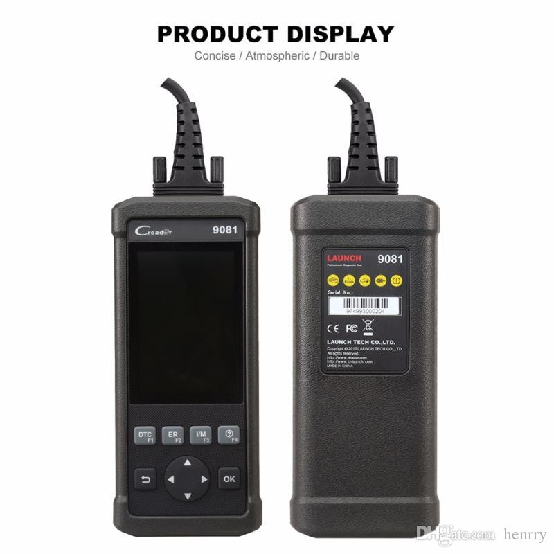 Launch DIY Scanner CReader 9081 Super Durable Full OBD2 Scan Tool Diagnostic OBD+ABS+SRS+Oil+EPB+BMS+SAS+DPF CR9081 Multi Languages