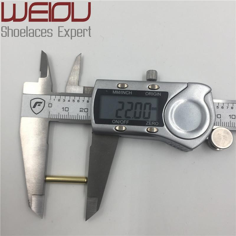 Weiou 4 unids de 3.8x22mm Cordones de Metal Sin Costura Consejos Cabeza Reemplazo Reparación Aglets DIY Kits de Zapatillas de deporte Plata oro negro