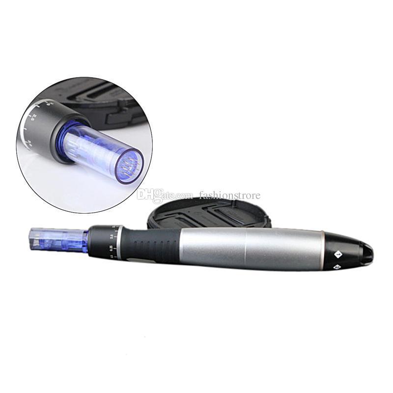뜨거운 판매 자동 미세 시스템 조정 바늘 길이의 0.25 - 3.0mm의 전기 더마 펜 스탬프 자동 마이크로 니들 링 더마 펜