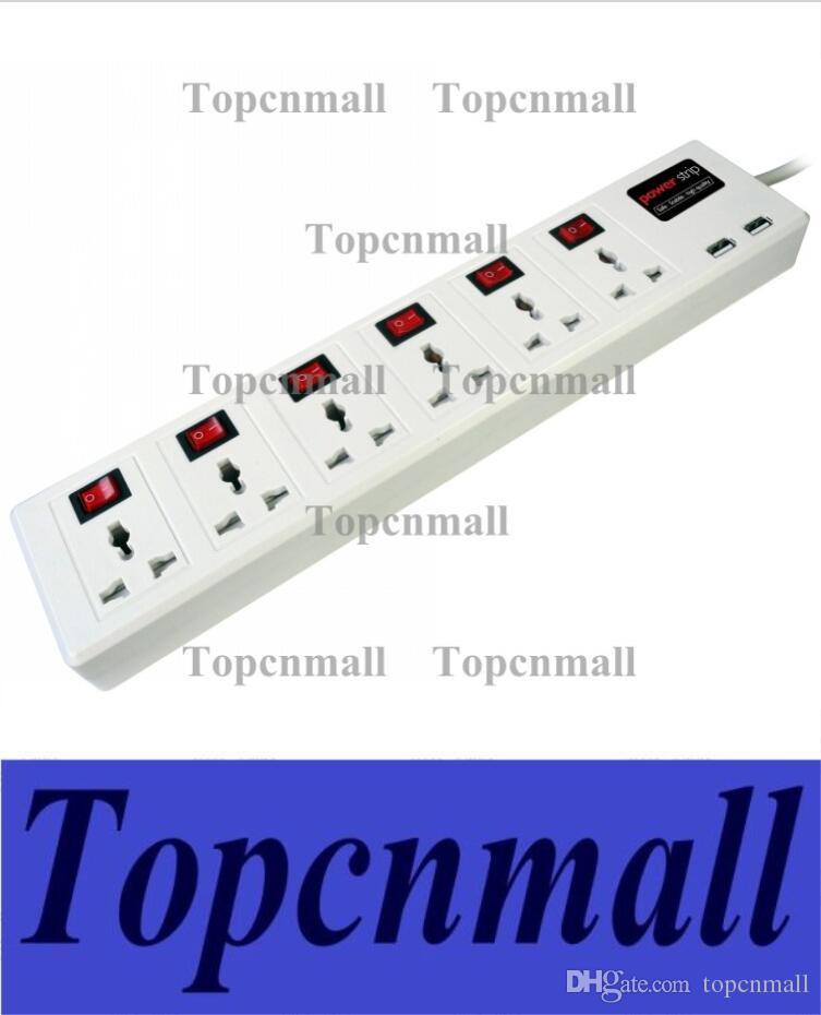 online cheap hot 6 universal outlet 2 usb charger port power strip rh dhgate com