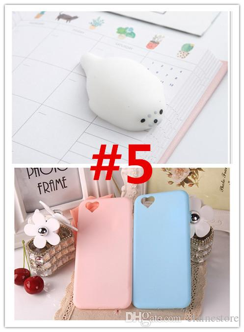 Squishy Mobile Phone Case 3D Cute Sleep Cat Phone Cover Case Soft Silicone Gel Shell For iphone8 8plus 7 7plus 6 plus 5