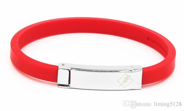 Anti-static Bracelet Titanium Germanium Stone Magnet Bracelet Fashion Sports Energy Silicone Bracelet