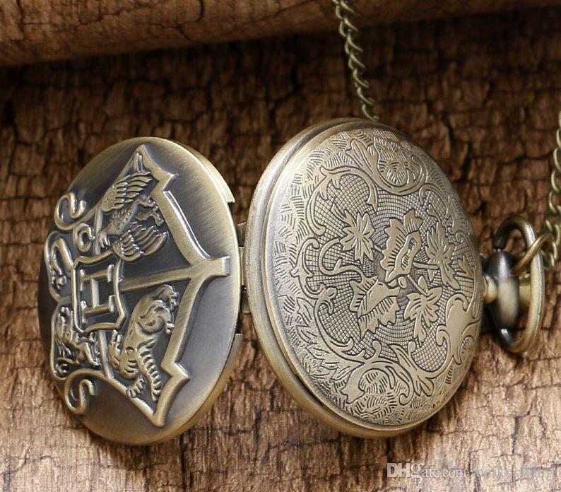 Venta al por mayor 100 unids / lote reloj vintage reloj de bolsillo collar Hombres Mujeres antiguo bronce reloj PW076