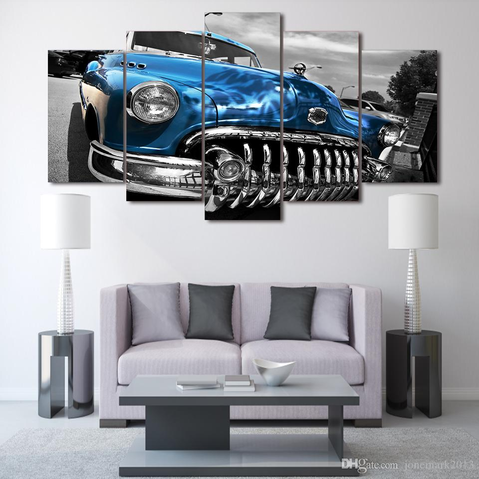 Framed HD Printed buick byuik 1950 retro Painting on canvas room decoration print poster picture canvas /ny-1716